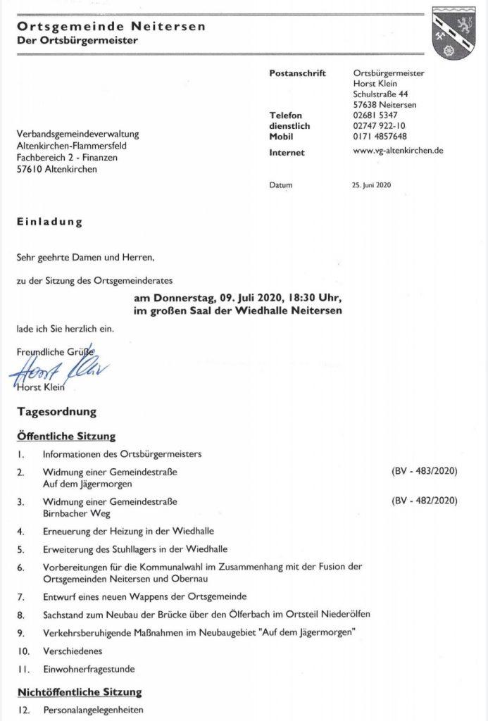 Gemeinderatsitzung @ Großer Saal, Wiedhalle